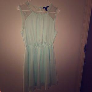 Light blue mid rise dress
